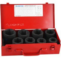 Jogo de Soquetes de Impacto 24 a 41mm x 1 Pol com 8 Peças