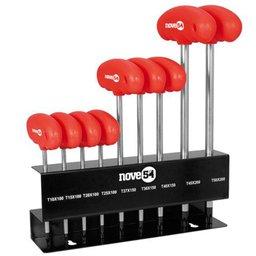 Jogo de Chave Hexalobular com 9 Peças T10 a T50