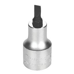 Soquete em Cr-V Ponta Chata 6,5mm com Encaixe 1/2 Pol.