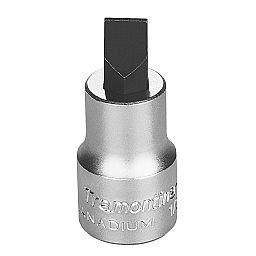 Soquete em Cr-V Ponta Chata 5,5mm com Encaixe 1/2 Pol.