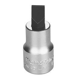 Soquete em Cr-V Ponta Chata 10mm com Encaixe 1/2 Pol.