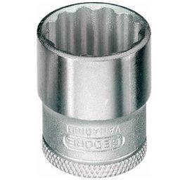 Soquete Estriado 12mm com Encaixe de 3/8 Pol.