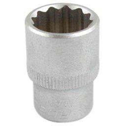 Soquete Estriado 15mm com Encaixe de 3/8 Pol.