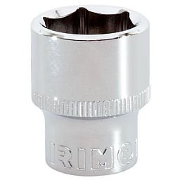 Soquete Sextavado Cr-V de 6mm com Encaixe de 3/8 Pol.