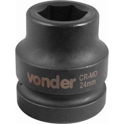 Soquete Sextavado de Impacto Encaixe 1 Pol. 24 mm Aço Cromo Molibdênio
