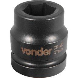 Soquete Sextavado de Impacto Encaixe 1 Pol. 27 mm Aço Cromo Molibdênio