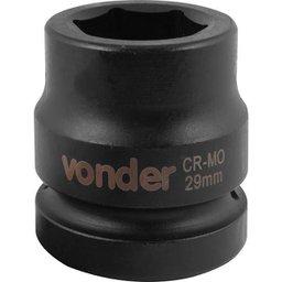 Soquete Sextavado de Impacto Encaixe 1 Pol. 29 mm Aço Cromo Molibdênio