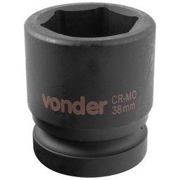 Soquete Sextavado de Impacto Encaixe 1 Pol. 38 mm Aço Cromo Molibdênio