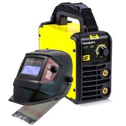 Kit Máquina de Solda Esab 0734001 110V + Máscara de Solda + 3 x Eletrodos Titanium 4870