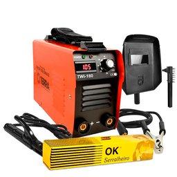 Kit Máquina Inversora de Solda 160A Bivolt Terra 706704 + Eletrodo Ok Serralheiro E6013 2,5mm 1Kg