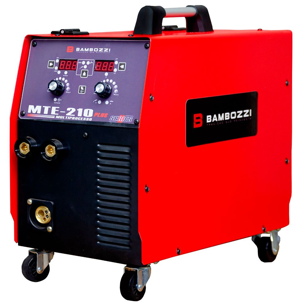 Máquina de Solda Inversora MTE-210 Plus Multiprocesso Tig, Mig e Eletrodo Bivolt