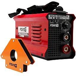 Kit Máquina de Solda Inversora MMA170iP 170A Bivolt Fortg Pro FG4514 + Esquadro Magnético Triangular 35Kg