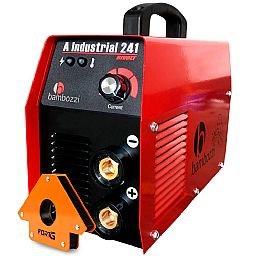 Kit Máquina Inversora de Solda 200A Bivolt Bambozzi-A-Industrial-241 + Esquadro Magnético Triangular para Soldagem 35Kg FG4710