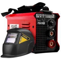 Kit Máquina de Solda Inversora MMA140iP FORTGPRO-FG4513 140A 220V + Máscara de Solda LYNUS-MSL-350F