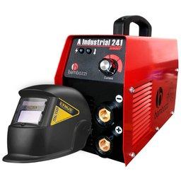 Kit Máquina Inversora de Solda BAMBOZZI-A-INDUSTRIAL-241 200A Bivolt + Máscara de Solda LYNUS-MSL-350F