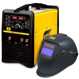 Kit Máquina Inversora de Solda ESAB 737532 ET-200I Tig AC/DC + Máscara para Solda ESAB 0735373 A20