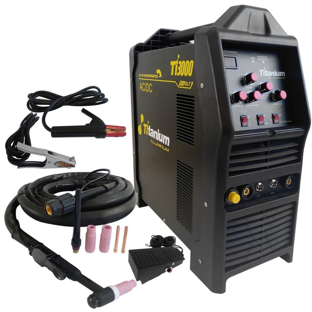 Máquina Inversora de Solda Tig-3000 AC/DC 200A Bivolt com Display Digital, Pedal e Tocha