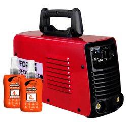 Kit Máquina de Solda MMA200i e TIG Lift 110/220V Fortg FG4123 + 2 Spray Repelente de Insetos 100ml Nutriex 62646