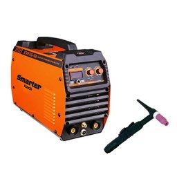 Máquina de Solda Inversora Pulsada TIG HF 160A 220V Mono com Tocha