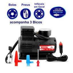 Mini Compressor de Ar Automotivo Portátil 12V com Manômetro - Marca Eurus