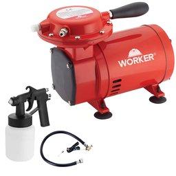 Compressor de Ar Direto 50PSI Bivolt com Kit para Pintura