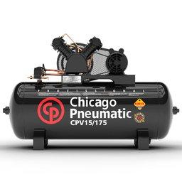 Compressor de Pistão 3HP 15 Pés 175 Litros 110/220V Monofásico