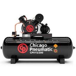 Compressor de Pistão 3HP 15 Pés 200 Litros 220/380V Trifásico