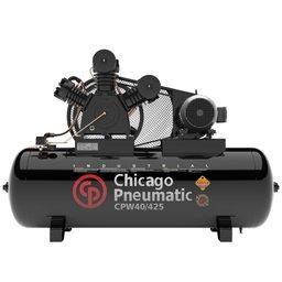 Compressor de Pistão Alta Pressão Industrial 40 Pés 425 Litros 220/380V Trifásico