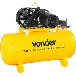 Compressor de Ar VDSE 2CV 10 Pés 100 Litros Trifásico 220/380V