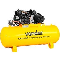 Compressor de Ar VDATG 5CV 20 Pés 200 Litros Trifásico 220/380V