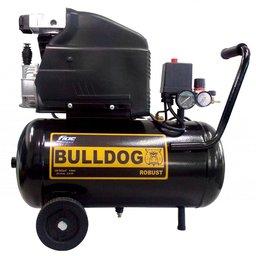 Motocompressor de Ar Bulldog Robust 2HP 8,1 Pés 24 Litros Monofásico