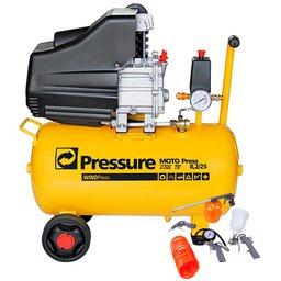 Kit Motocompressor de Ar Pressure WP8225L 8,2/24L 220V + Kit de Pintura