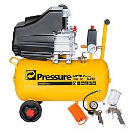 Kit Motocompressor de Ar Pressure WP8225L 8,2 Pés 24L  + Jogo de Acessórios com 4 Peças