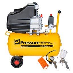 Kit Motocompressor de Ar Pressure WP8225L 8,2 Pés 24L 110V + Jogo de Acessórios com 4 Peças