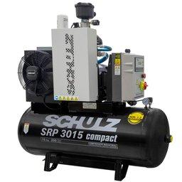 Compressor de Ar Rotativo de Parafuso SRP 3015 Compact III 15HP 11Bar 200L 380V