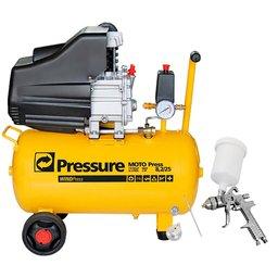 Kit Motocompressor de Ar  Pressure WP8225L + Pistola de Pintura HVLP