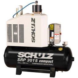 Compressor de Ar Rotativo de Parafuso SRP 3015 Compact III 15HP 9Bar 200L 220V