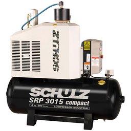 Compressor de Ar Rotativo de Parafuso SRP 3015 Compact III 15HP 9Bar 200L 440V