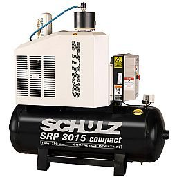 Compressor de Ar Rotativo de Parafuso SRP 3015 Compact III 15HP 11Bar 200L 220V