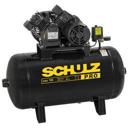 Compressor de Ar 10 Pés 100L 2HP 140PSI Monofásico 110V