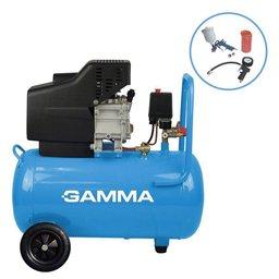 Motocompressor de Ar 2 Saídas de Ar e Protetor Térmico 2,5HP 50L 220V com Kit de Pintura