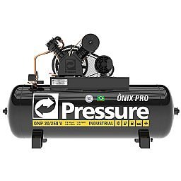 Compressor de Ar Industrial Onix Pro 20 Pés 175Lbs 5HP 250L Trifásico 220/380V