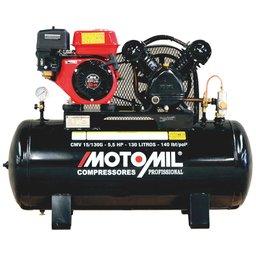 Compressor de Ar Profissional Gasolina 15 Pés 140 Lbs 5,5HP 130 Litros