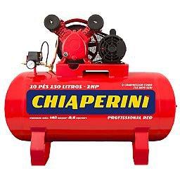 Compressor de Ar Red Média Pressão 10 Pés 140PSI 2HP 150 Litros 110/220V