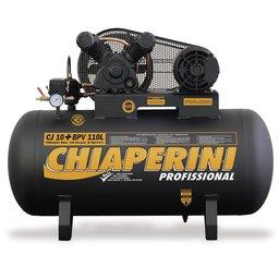 Compressor de Ar Baixa Pressão 10 Pés 120PSI 2HP 110 Litros Trifásico 220/380V Profissional