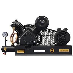 Compressor De Ar Alta Pressão Sobre Base CJ15 + APV 15 Pés 3HP 2P 175PSI 110/220V Mono