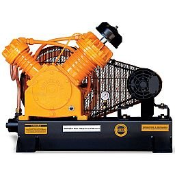 Compressor de Ar Profissional Alta Pressão Sobre Base CJ25 APV 25 Pés 175PSI 5HP 220/380V Trifásico