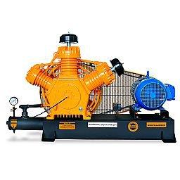 Compressor de Alta Pressão Sobre Base CJ40 AP3V 40 Pés 175PSI 10HP 220/380V Trifásico Intermitente