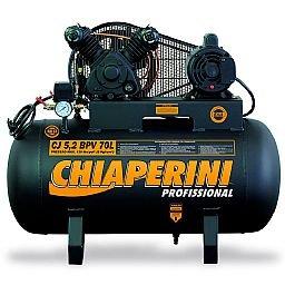 Compressor de Ar de Baixa Pressão CJ5.2 BPV 5,2 Pés 120PSI 70L 1HP 110/220V Monofásico