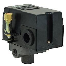 Pressostato 80/120PSI com Válvula, Chave e Manifold 4 Vias para Compressor de Baixa Pressão